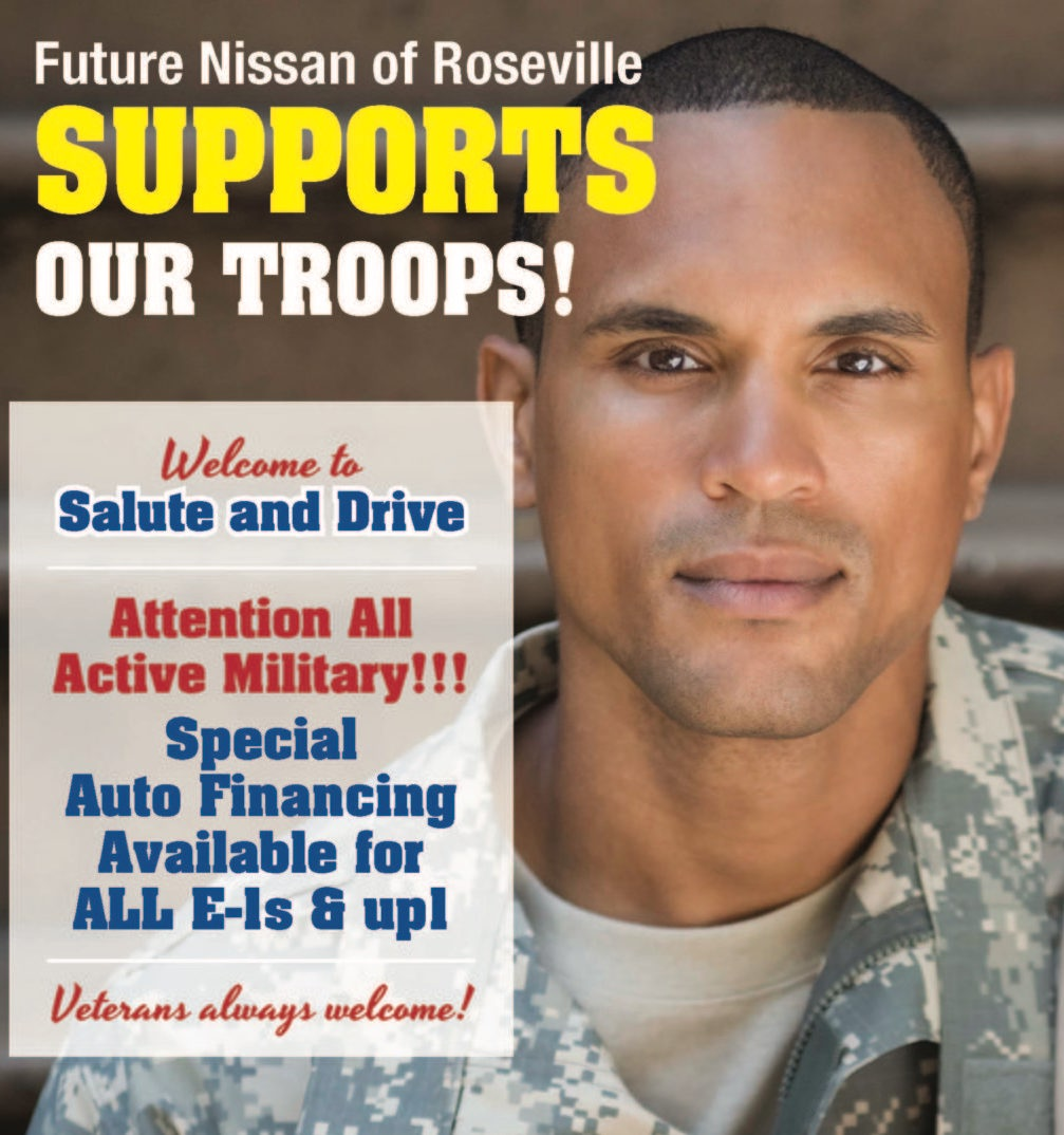 Salute and Drive Future Nissan Special Financing for Veterans